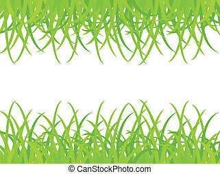 Grassy field Vector illustration