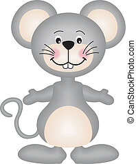 Gray mouse - The gray mouse vector design clip art