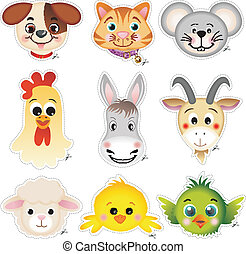 Pet head cut - The pet head cut, vector design clip art