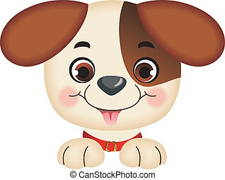Dog peeking - Scalable vectorial image representing a Dog...