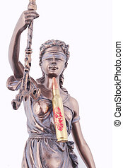 Lady Justice with a 5.56mm cartridge