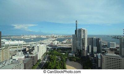 Urban scene in Kobe, Japan - urban scene in Kobe, Japan