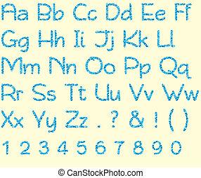 Camo Blue Alphabet & Number Set