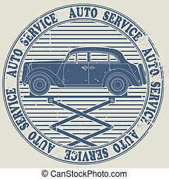Avto service stamp