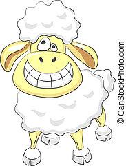 Vector cartoon happy funny ram