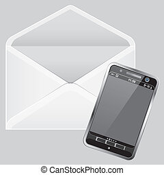 Envelope and Smartphone