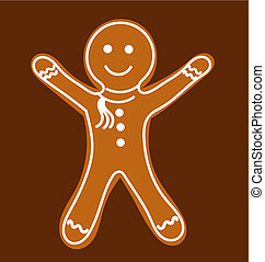 Gingerbread man. Vector illustration