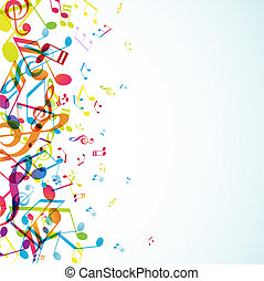 Abstract background with colorful tunes