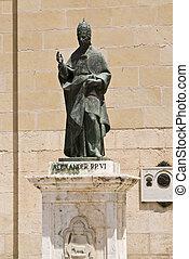 pope - Alexander VI pope statue in Xativa, Valencia, Spain