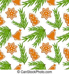 Christmas cookies seamless pattern - Christmas cookies...