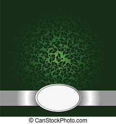 Greeting card with green flowers