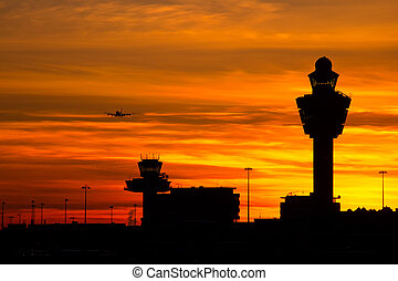 Zachód słońca,  Schiphol