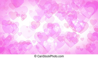 Pink Graphical hearts Background - Graphical hearts dancing...