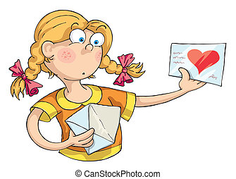 Love Letter - The girl received a love letter and she was...