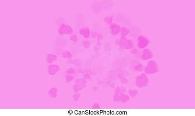 Spinning rose petals
