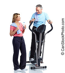 Senior fitness - Gym, Fitness, healthy lifestyle Senior...