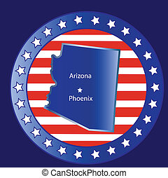 Arizona state seal stamp usa