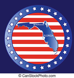 Florida state map - Florida state seal stamp usa