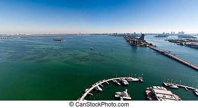 Panoramic Aerial View of Miami
