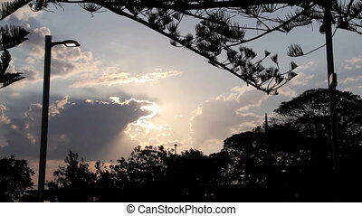 Rim Lit Clouds - Series of high contrast shots of back lit...