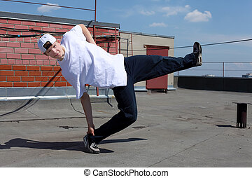 street dancer outdoors