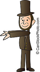 Abraham Lincoln Cartoon - A cartoon version of Abraham...