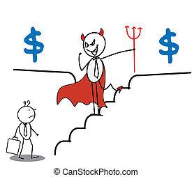 businessman & devil Money