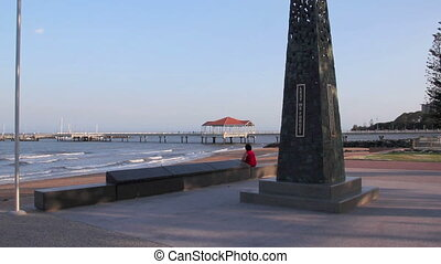 War Memorial Redcliffe - The war memorial in the park at the...