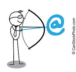 Businessman Archery Email