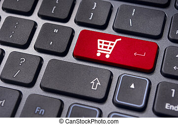 online shopping concepts with cart symbol