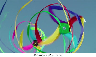Wind spinners on beach, Long Beach, Washington, USA
