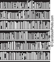 vector abstract black and white bookshelf - vector abstract...