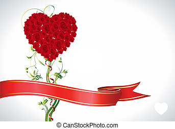Rose Heart - This image is a vector file representing a rose...