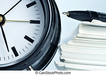 Paperwork and time - Conceptual shot of office work in...