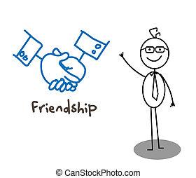 Businessman Friendship Hand