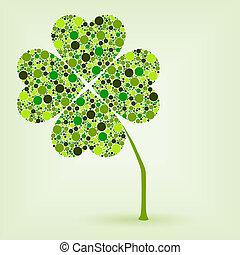 dots four leaf clover