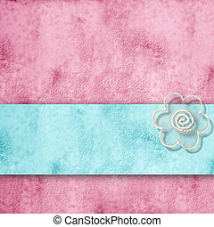 romantic pink and blue background, with copy space