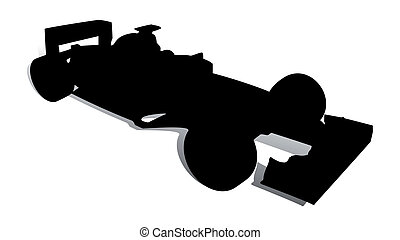 Racing Car 2 - An abstract vector illustration of a racing...