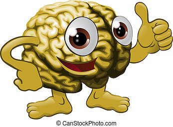 Brain cartoon character illustration