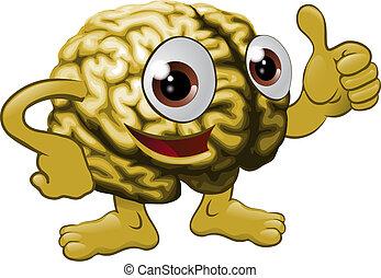 Brain cartoon character illustration