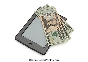 Touch e-reader with money - A touch e-reader with money...