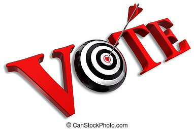 vote red word and conceptual target