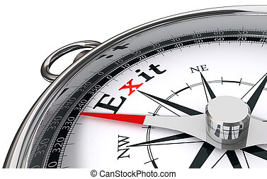 exit the way indicated by compass
