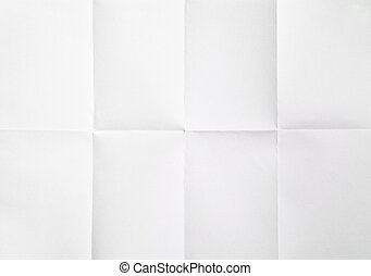 white sheet of paper folded in eight