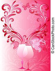 Pink valentines frame