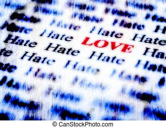 Amor, &, ódio