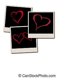 Film Frames for Valentines Day - Several instant film frames...