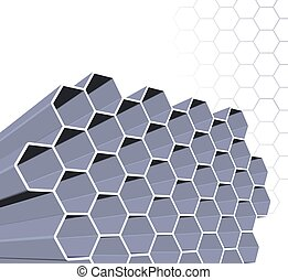 Abstract honey comb structure - An abstract background with...