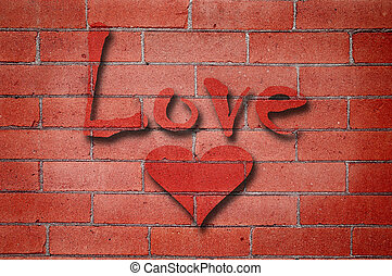 Love Brick Wall