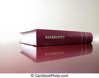 Law Book on Bankruptcy - Close up of an old law book on...